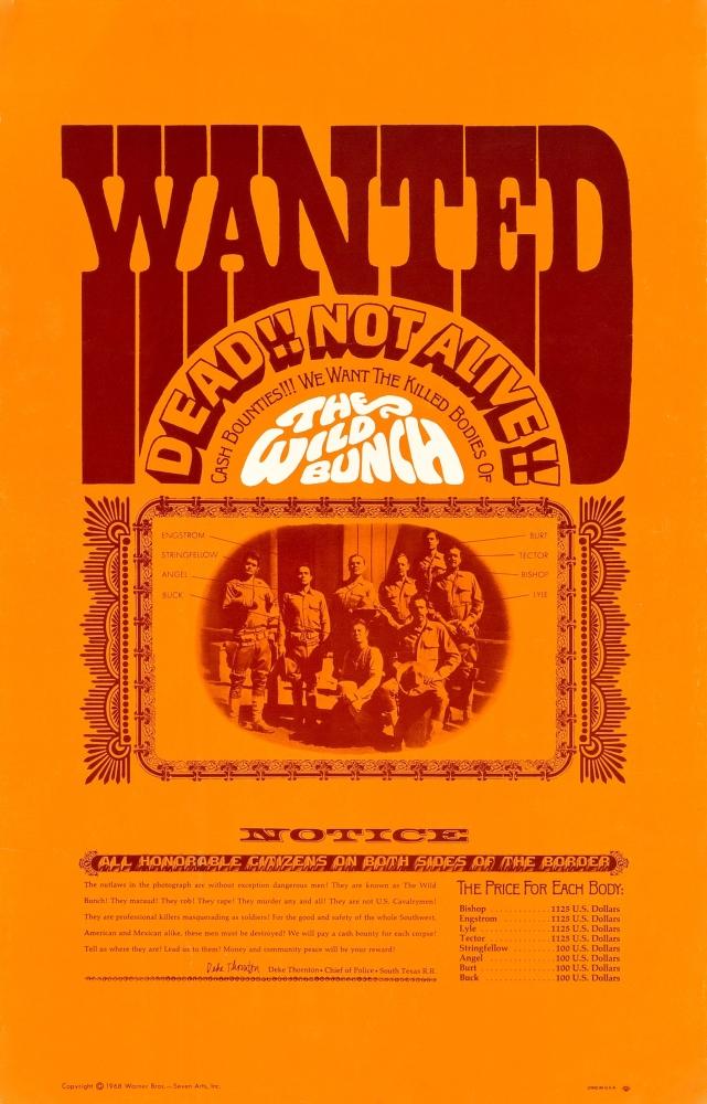 Wild Bunch Warren Oates Ernest Borgnine William Holden Ben Johnson 11X17 Poster