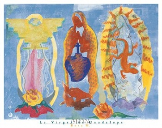 Haddads Fine Art La Virgen De Guadalupe Poster Print by Rosa M. (26 x 22) at Sears.com