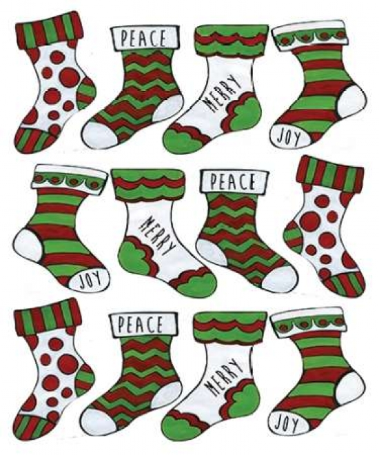 Christmas stocking cheer pattern poster tanga