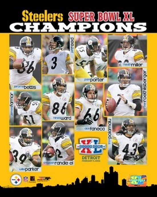 PhotoFile Super Bowl XL - '05 Steelers Championship Team Composite Sports Photo (8 x 10) at Sears.com