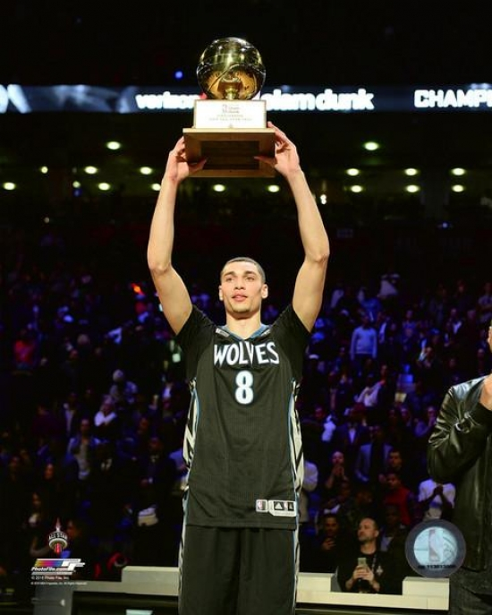 Zach Lavine With The NBA Slam Dunk Contest Trophy 2016 All